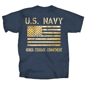 New!! United States Navy Blue T-Shirt with Flag